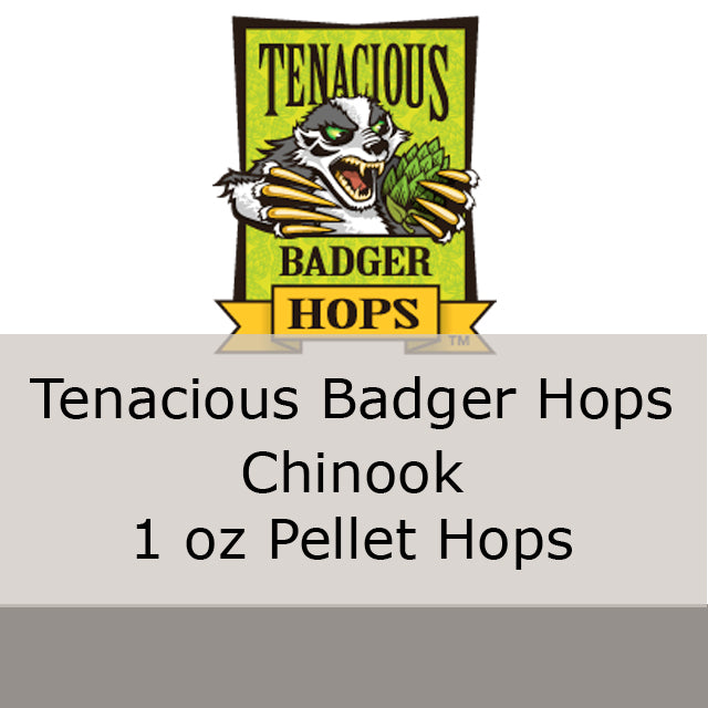 Chinook Pellet Hops 1 oz (Tenacious Badger Hops)