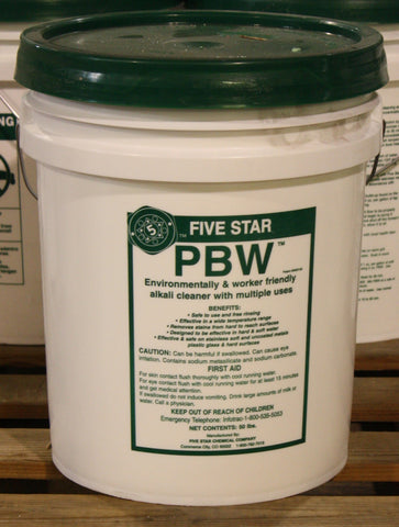 PBW - Powdered Brewery Wash - 50 lb Pail (Five Star)