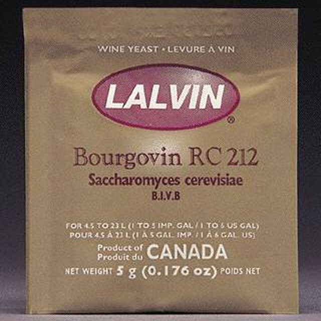Dry Wine Yeast - Lalvin RC-212 Dry Wine Yeast