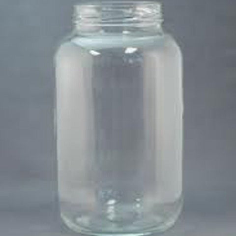 1 gallon clear glass jar wide mouth with lid