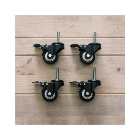 Caster Wheels for SS BrewTech Chronical Fermenters (14 and 17 gallon), set of 4