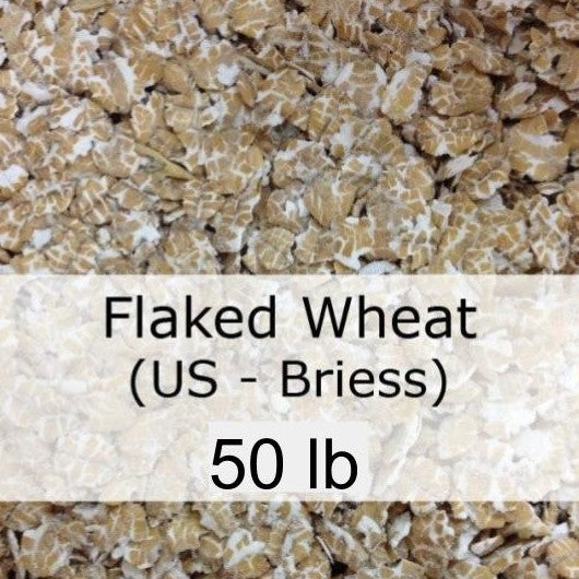 Flaked Wheat 50 LB Sack (US - Briess)