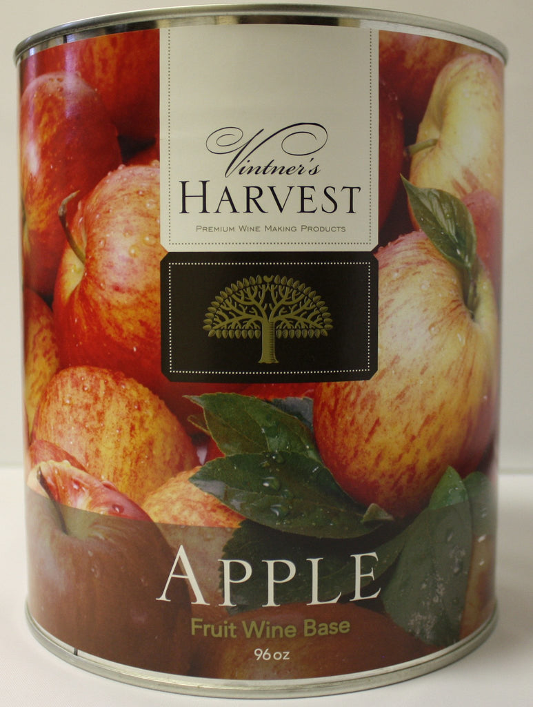 Fruit Puree And Base Concentrates - Apple Fruit Wine Base 96 Oz Tin (Vintner's Harvest)