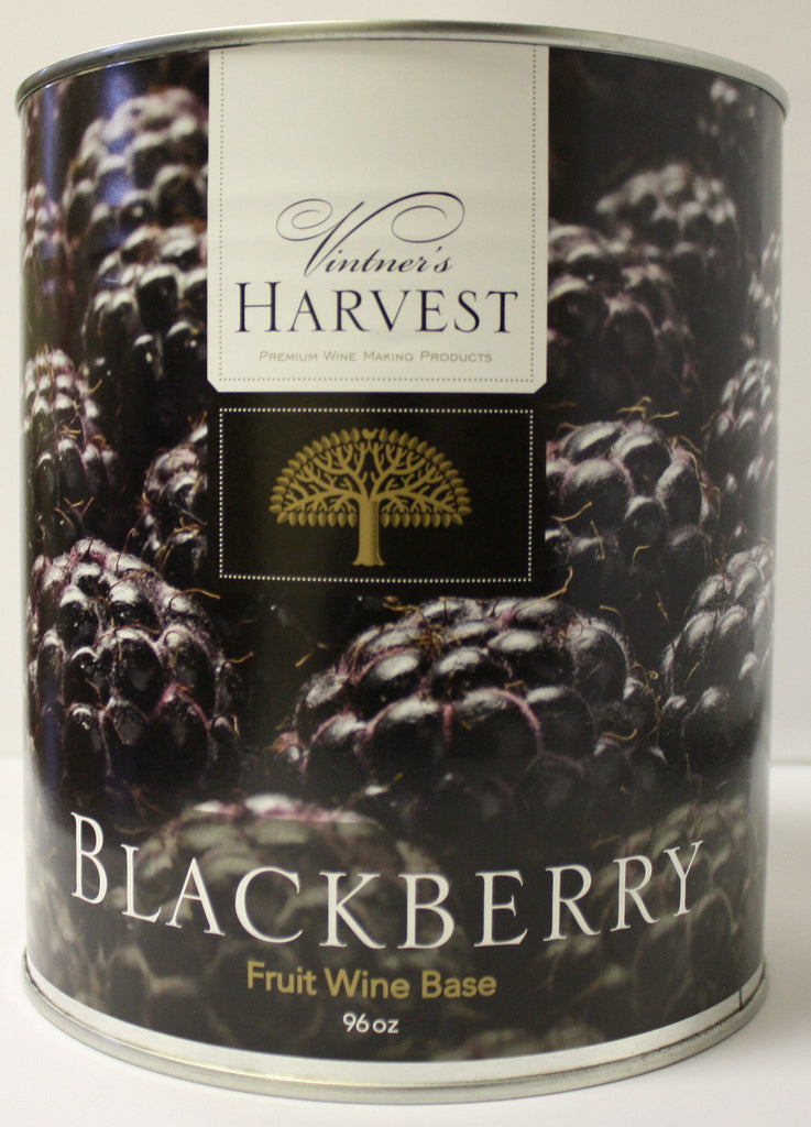 Fruit Puree And Base Concentrates - Blackberry Fruit Wine Base 96 Oz Tin (Vintner's Harvest)
