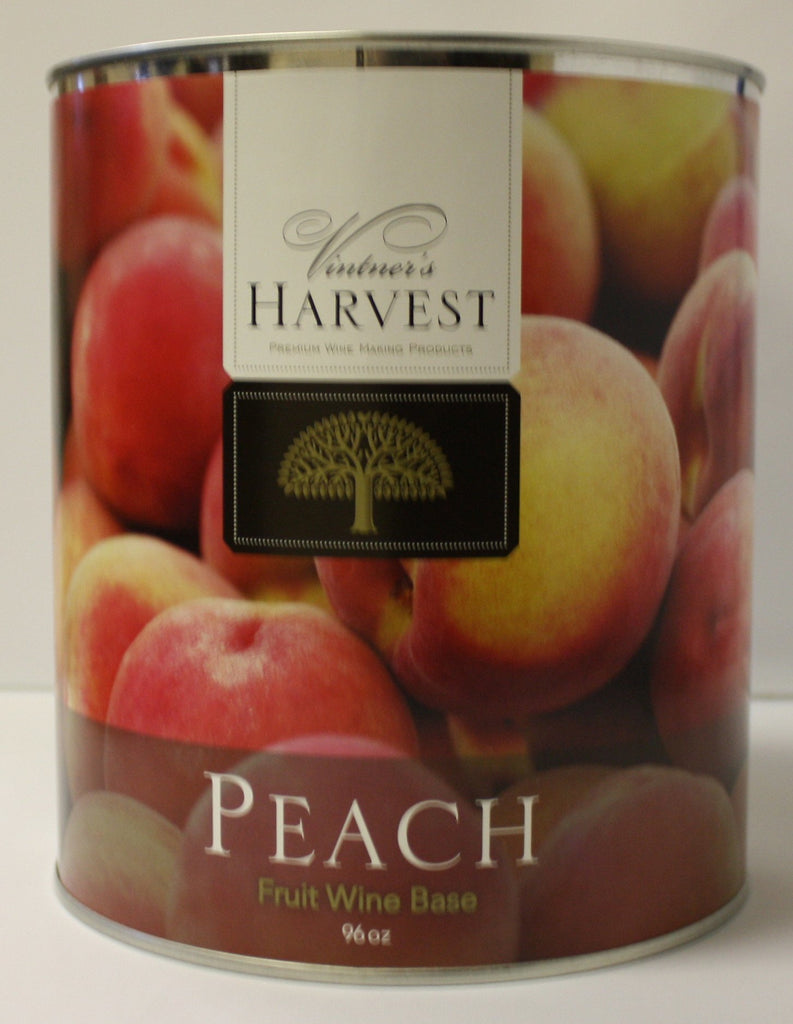 Fruit Puree And Base Concentrates - Peach Fruit Wine Base 96 Oz Tin (Vintner's Harvest)