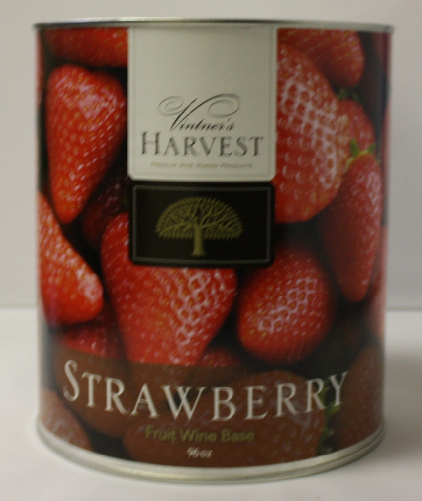 Fruit Puree And Base Concentrates - Strawberry Fruit Wine Base 96 Oz (Vintner's Harvest)