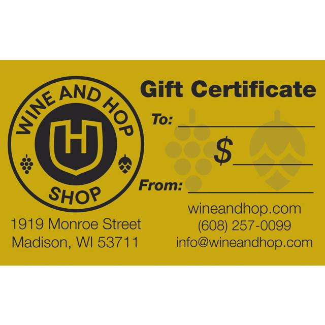 Gift Cards – Wine and Hop Shop