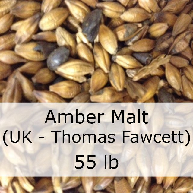 Grain - Amber Malt 55 LB Grain Sack (UK - Thomas Fawcett)