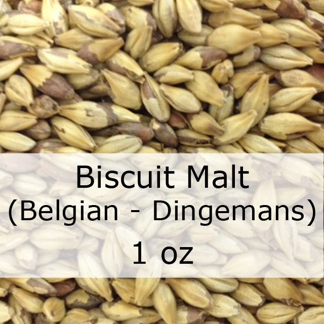 Grain - Biscuit Malt 1 Oz (Belgian - Dingemans)