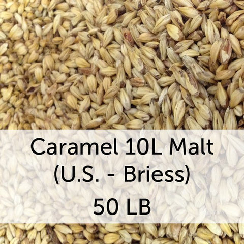 Caramel (Crystal) 10L Malt 50 LB Sack (US - Briess)