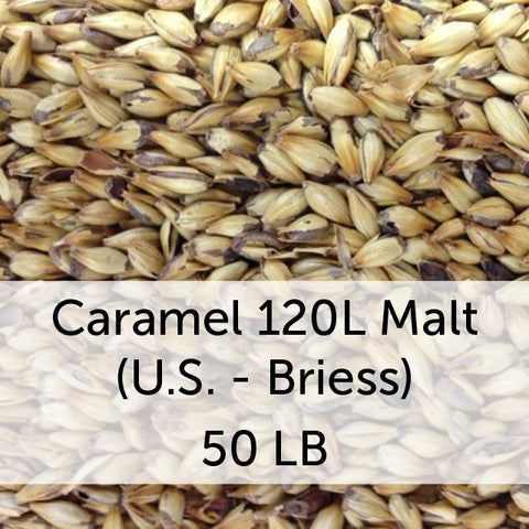 Caramel (Crystal) 120L Malt 50 LB Sack (US - Briess)