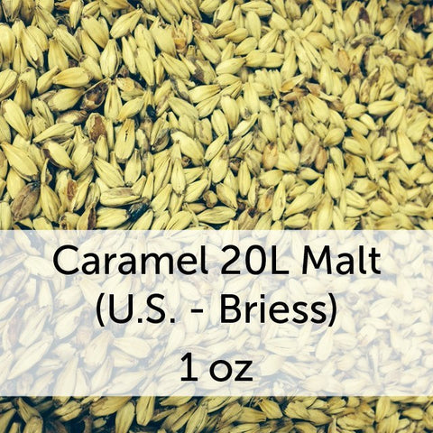 Caramel (Crystal) 20L Malt 1 oz (US - Briess)