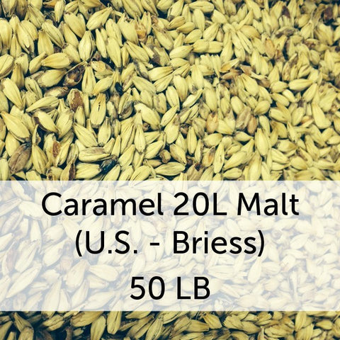 Caramel (Crystal) 20L Malt 50 LB Sack (US - Briess)