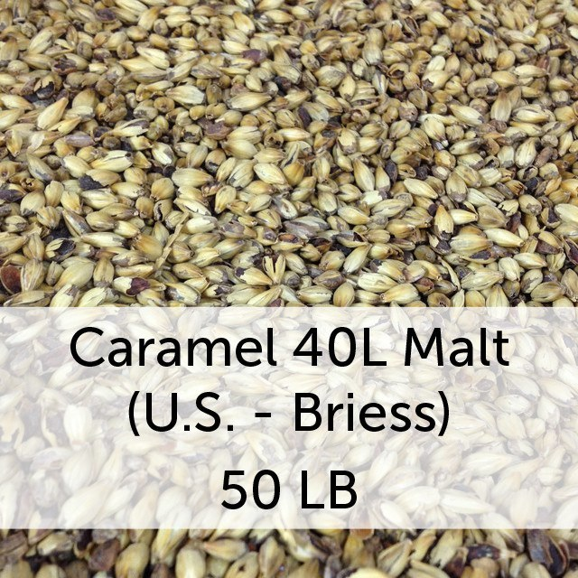 Grain - Caramel (Crystal) 40L Malt 50 LB Sack (US - Briess)