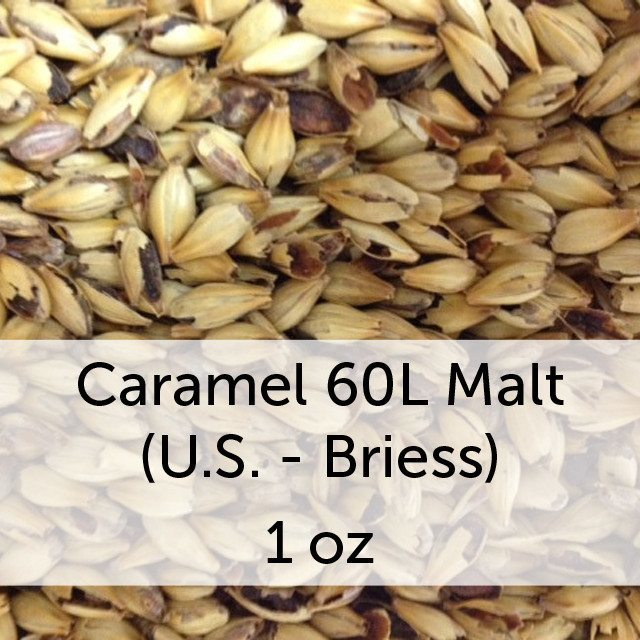 Grain - Caramel (Crystal) 60L Malt 1 Oz (US - Briess)