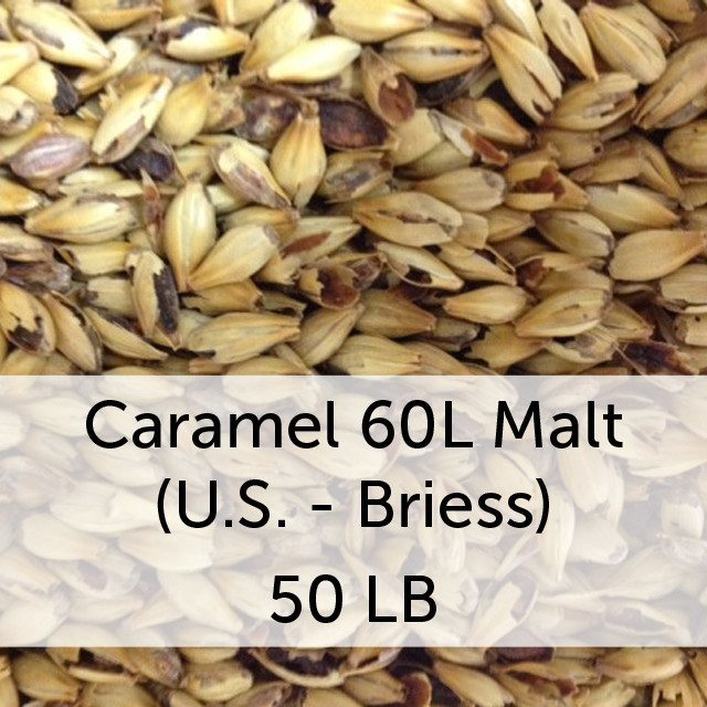 Grain - Caramel (Crystal) 60L Malt 50 LB Sack (US - Briess)