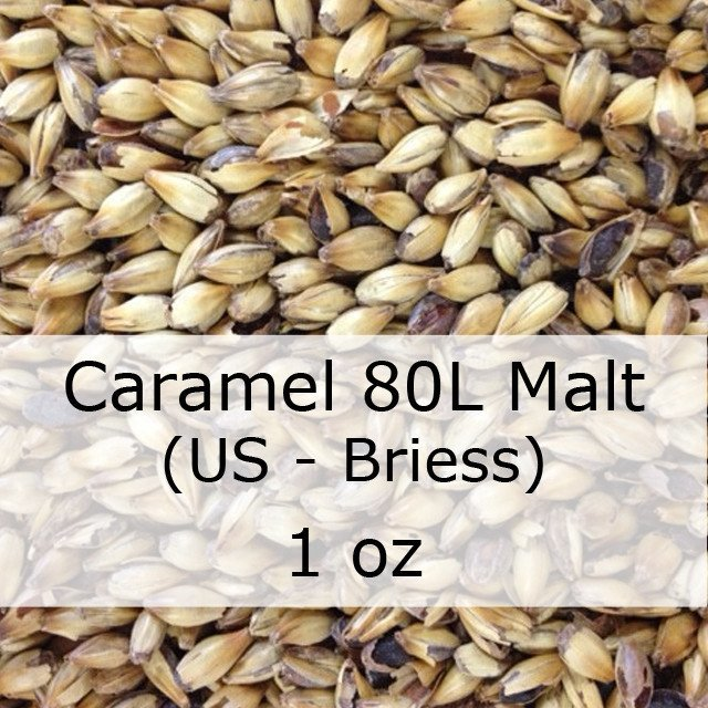 Grain - Caramel (Crystal) 80L MALT 1 Oz (US - Briess)