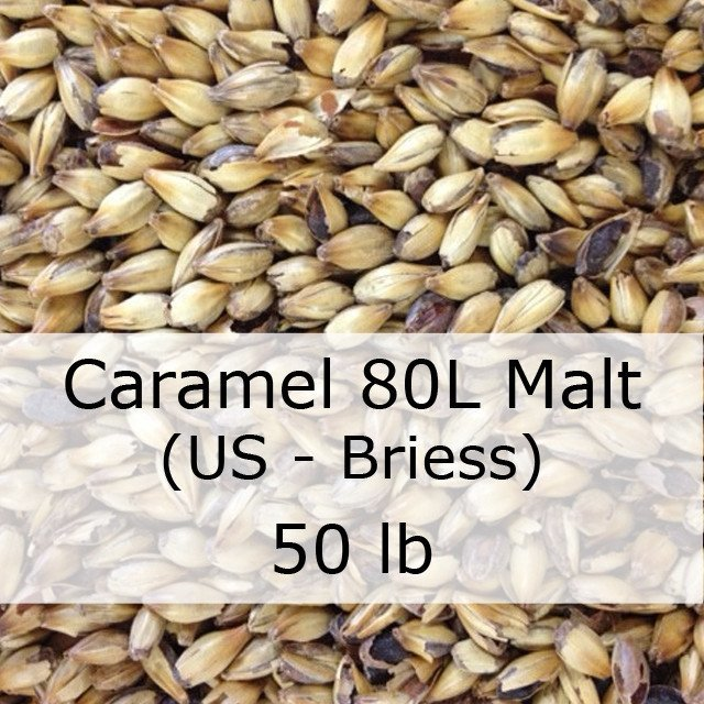 Grain - Caramel (Crystal) 80L Malt 50 LB Sack (US - Briess)