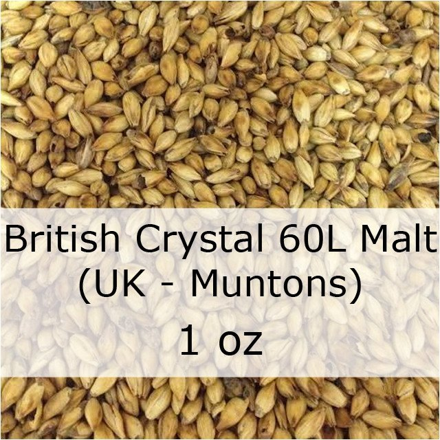 Grain - Caramel (Crystal) Malt 60L 1 Oz (UK - Muntons)