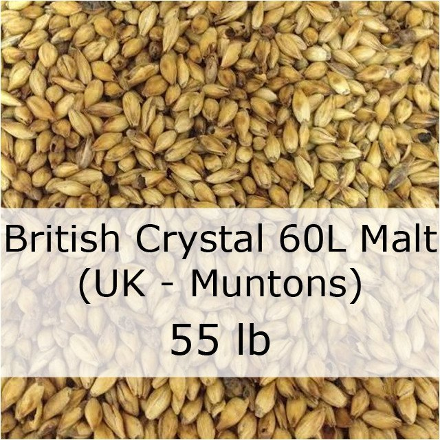 Grain - Caramel (Crystal) Malt 60L 55 LB Grain Sack (UK - Muntons)