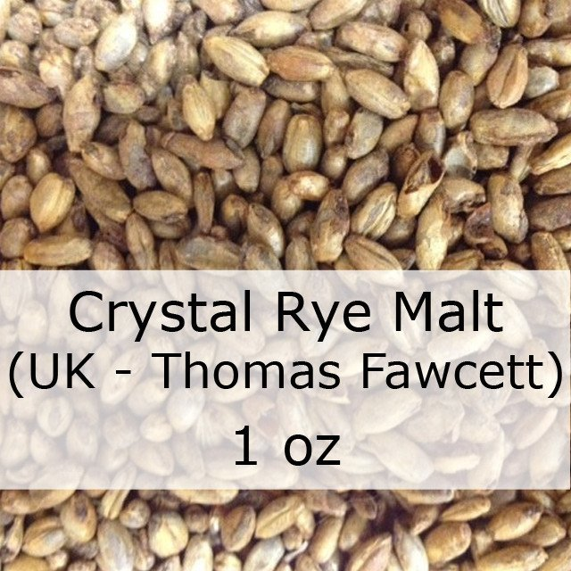 Grain - Caramel (Crystal) Rye Malt 1 Oz (UK - Thomas Fawcett)