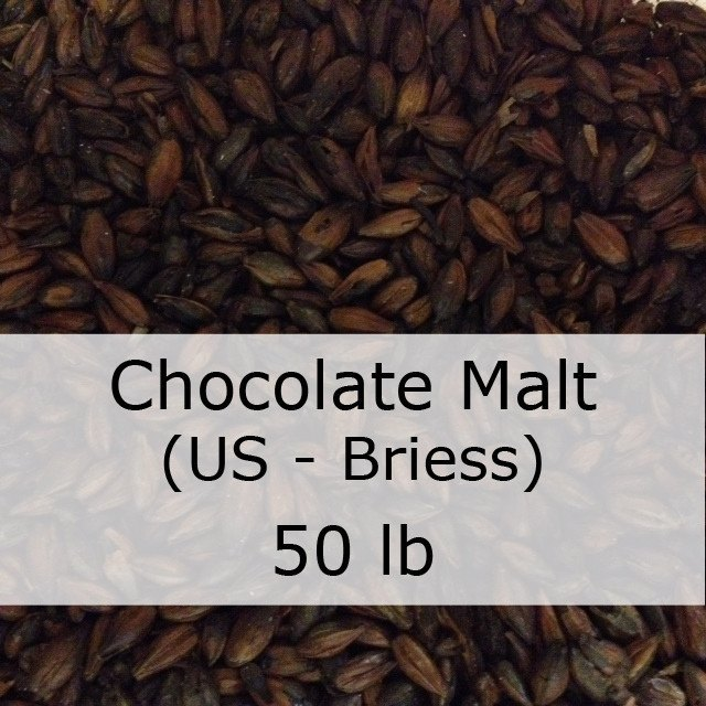 Grain - Chocolate Malt 50 LB Sack (US - Briess)
