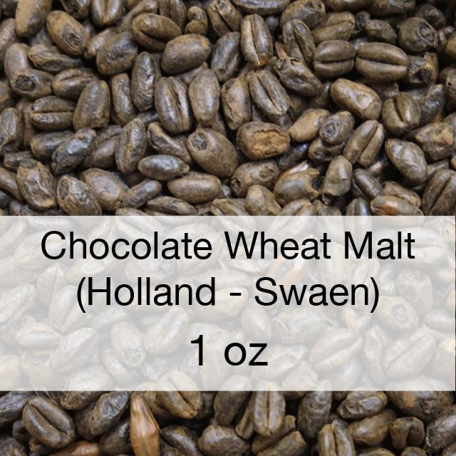 Grain - Chocolate Wheat Malt 1 Oz (Holland - Swaen)