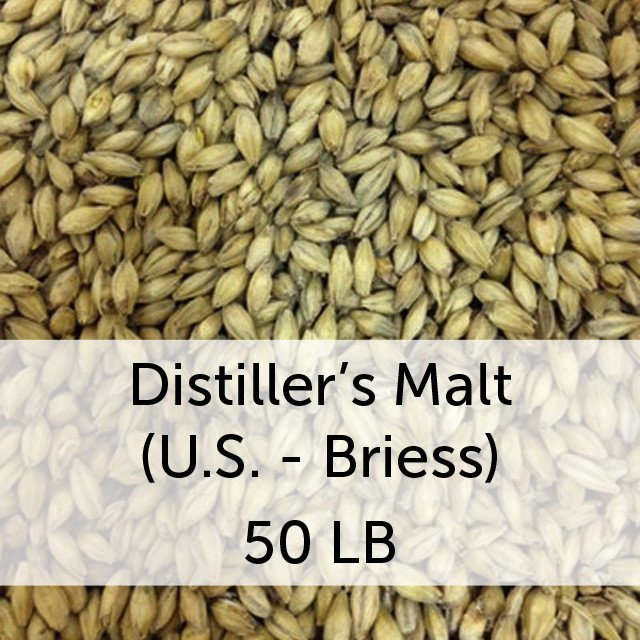 Grain - Distiller's Malt 50 Lb Bag (US - Briess)