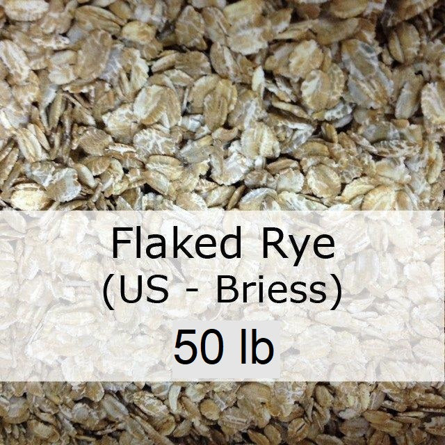 Flaked Rye 50 LB Sack (US - Briess)
