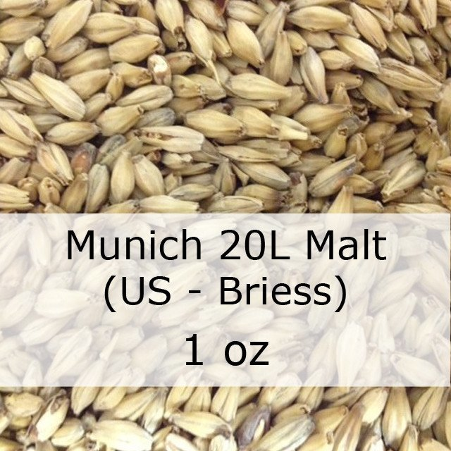 Grain - Munich 20L Malt 1 Oz (US - Briess)