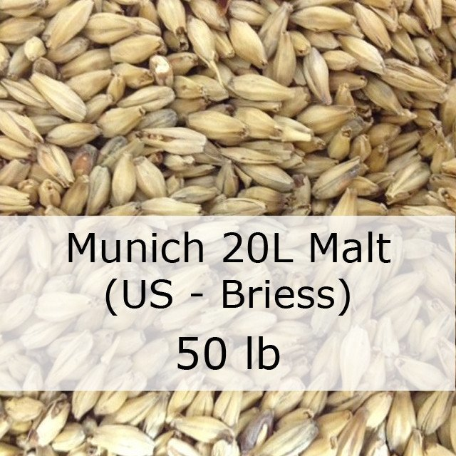 Grain - Munich 20L Malt 50 LB Sack (US - Briess)