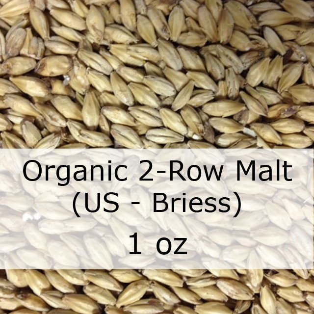 Grain - Organic 2-Row Brewers Malt 1 Oz (US - Briess)