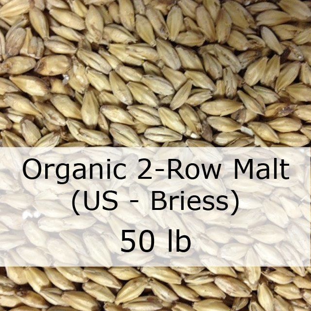 Grain - Organic 2-Row Brewers Malt 50 LB Sack (US - Briess)