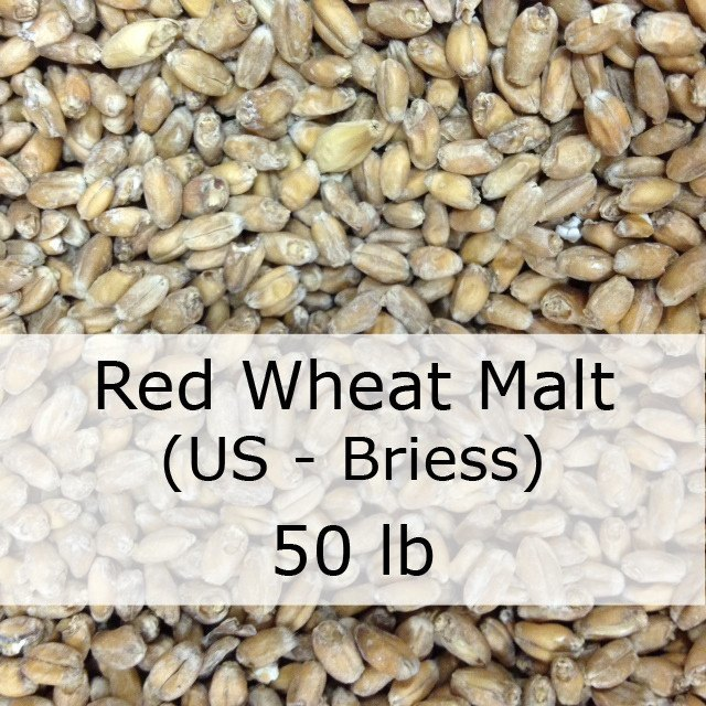 Grain - Red Wheat Malt 50 LB Sack (US - Briess)