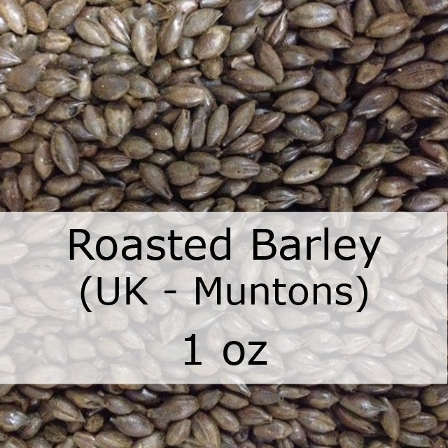Grain - Roasted Barley (Unmalted) 1 Oz (UK - Muntons)