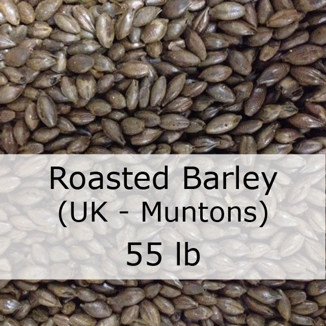 Grain - Roasted Barley (Unmalted) 55 LB Bag Of Grain (UK - Muntons)