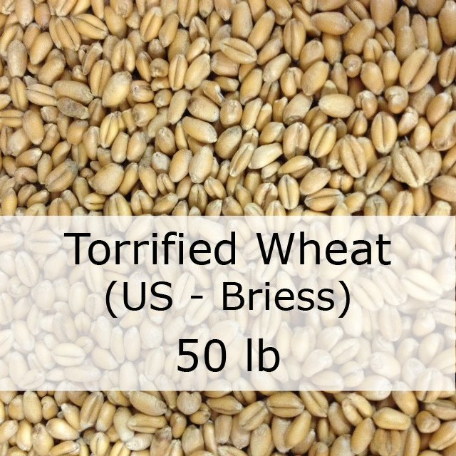 Grain - Torrified Wheat 50 LB Sack (US - Briess)
