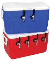 Keg And Draft Supplies - Draft Box With 4 Taps (Blue)
