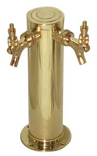 Draft Tower - Double Faucet - Polished Brass