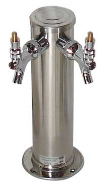 Draft Tower - Double Faucet - Polished Stainless
