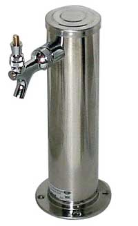 Keg And Draft Supplies - Draft Tower - Single Faucet - Polished Stainless