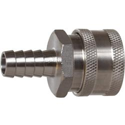 Keg And Draft Supplies - Female Stainless Disconnect Barb 1/2""