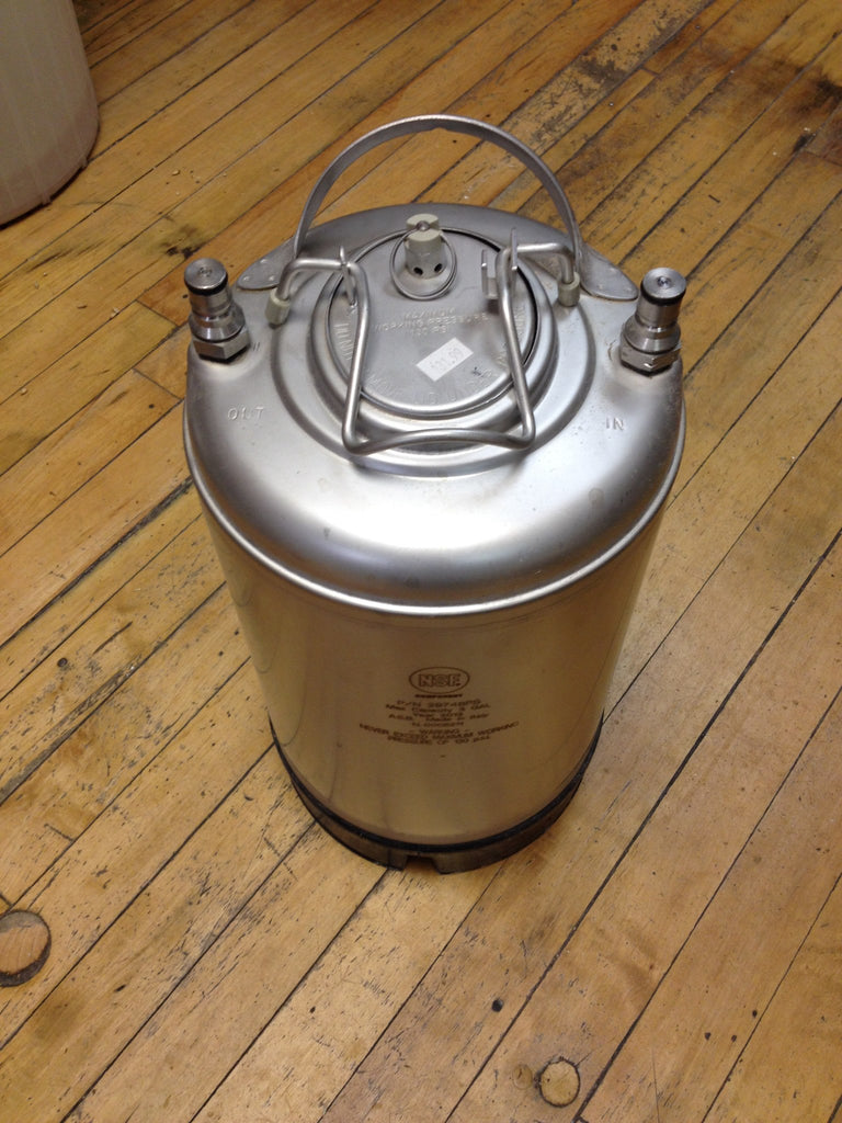 Keg And Draft Supplies - New 2.5 Gallon Ball Lock Keg