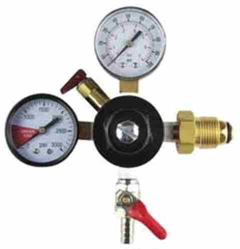 Keg And Draft Supplies - Nitrogen Regulator - Two Gauge W/ Check Valve