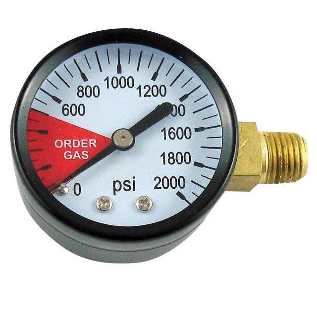 Keg And Draft Supplies - Replacement High Pressure Gauge LHT (Left)