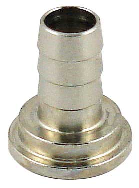 "Keg And Draft Supplies - Tail Piece, 1/4"" Barb (for 5/16"" Tubing) - Chrome Plated"