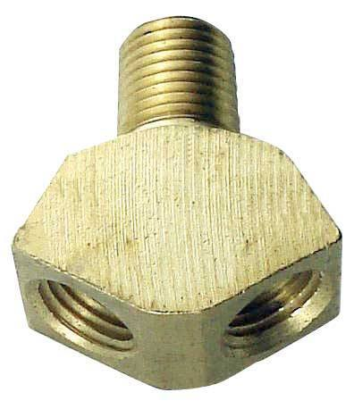 "Keg And Draft Supplies - Wye Splitter, 1/4"" MPT X 1/4"" FPT X 1/4"" FPT"