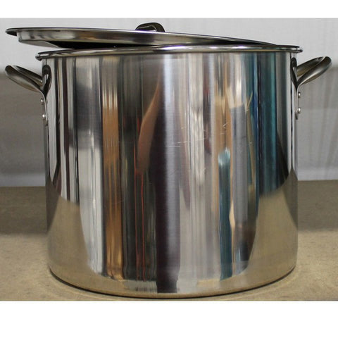 7.5 Gallon (30 QT) Economy Stainless Steel Kettle