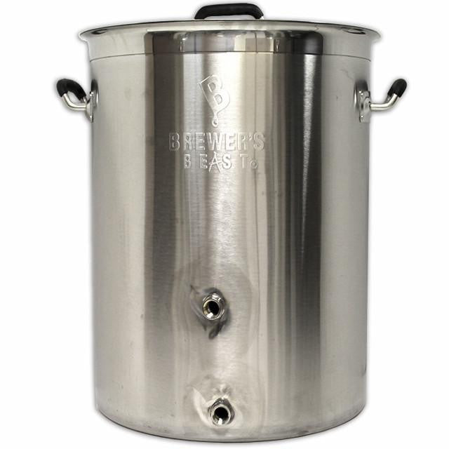 Kettles And All-Grain Equipment - 8 Gallon Heavy Duty Stainless Steel Kettle W/ 2 Ports (Brewer's Best)