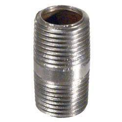 "Kettles And All-Grain Equipment - Stainless Nipple - 3/8"" X 1'' Threaded"